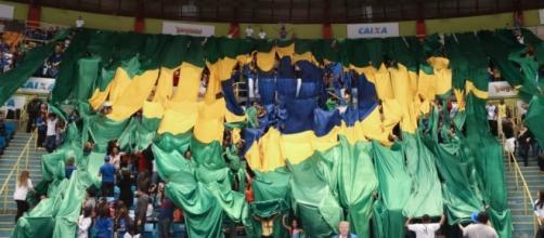A torcida brasileira fez muita festa no Ibirapuera