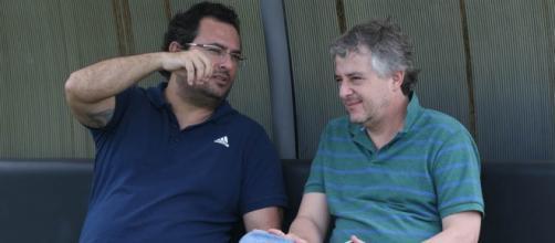Diretor de Futebol, Alexandre Mattos e Paulo Nobre, presidente do Palmeiras (Foto: Cesar Greco/Ag Palmeiras)