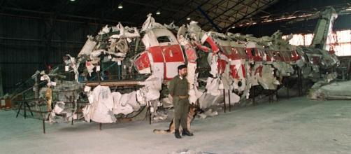 I resti del DC9 dell'Itavia precipitato il 27 giugno 1980