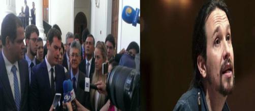 Rueda de prensa de Rivera junto al presidente del parlamento de Venezuela