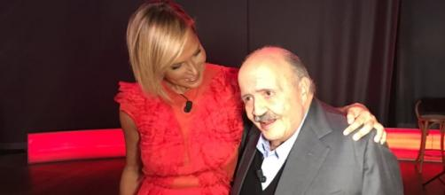 Simona Ventura prima della registrazione del Maurizio Costanzo Show