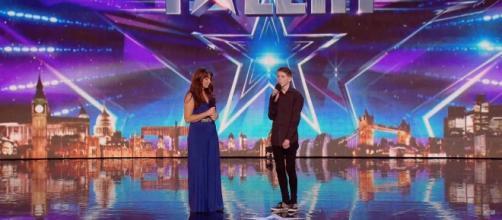 Una imagen de la pareja durante la actuación.