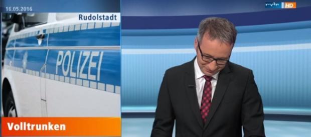 Daniel Baumbach konnte nicht mehr vor Lachen, Foto: MDR Screenshot