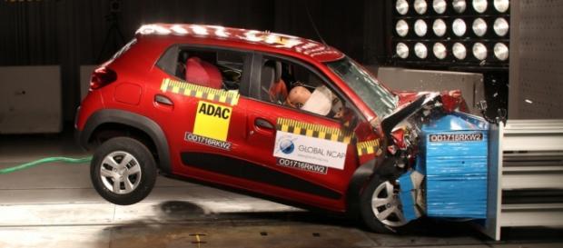 """Global NCAP classificou níveis de proteção do Kwid como """"pobre"""" e """"mínimo"""""""