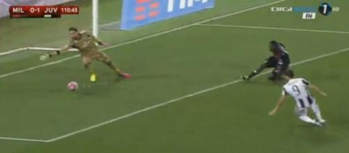 Voti Milan-Juventus Gazzetta dello Sport: il gol dell'1-0 di Alvaro Morata