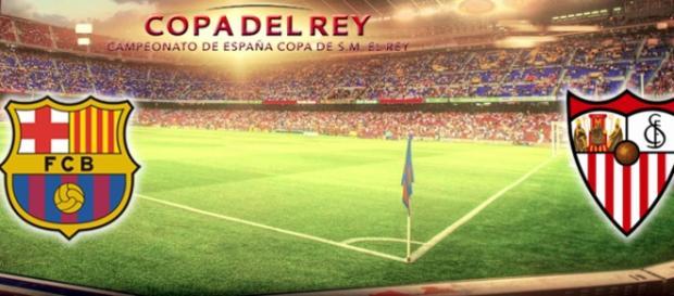 Final de la Copa del Rey. F.C.Barcelona vrs Sevilla C.F.