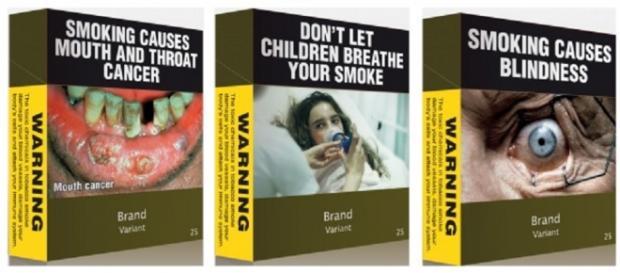Immagini choc pacchetto sigarette Italia