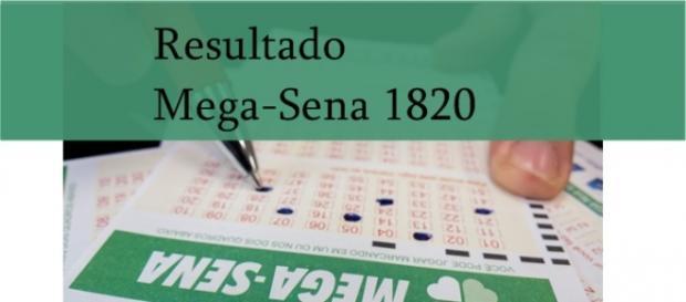 Resultado do jogo da Mega-Sena 1820