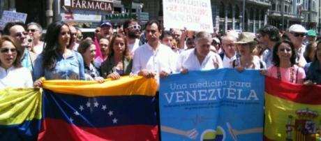 Manifestación en apoyo a Venezuela. Foto: GARDEU