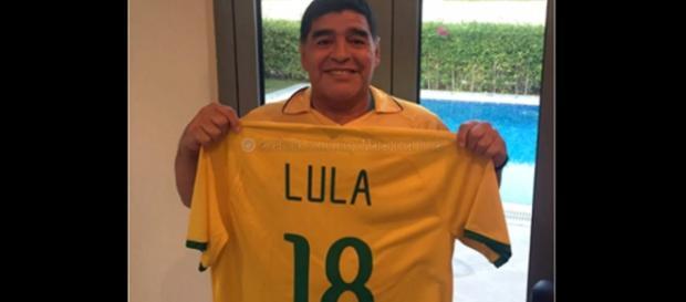 Maradona revela apoio a Lula e Dilma