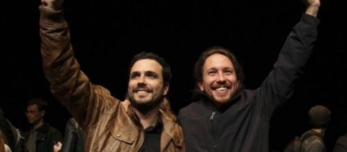 Alberto Garzón y Pablo Iglesias de Unidos Podemos