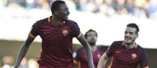 Il giovane attaccante della Roma, Sadiq Umar.