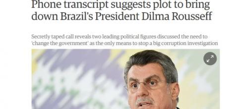 Jornal britânico fala como Romero Jucá supostamente auxiliou na derrubada de Dilma Roussef