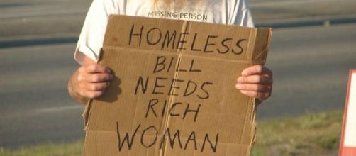 Making jokes about being homeless. Source: https://upload.wikimedia.org/wikipedia/commons/2/21/Homeless_man_in_Anchorage.jpg