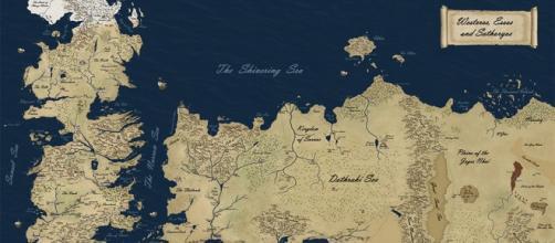 Mapa del mundo de Juego de Tronos