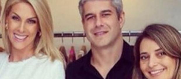 Ana Hickmann, seu cunhado Gustavo e sua esposa Giovana (Instagram)