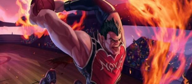 Darius rey del mate, aspecto del campeón de League of Legends.