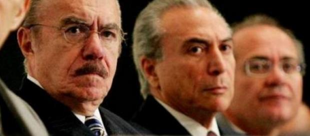 Renan Calheiros e Sarney - Imagem: Google