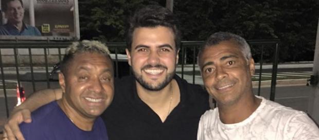 Tiririca, Wilson e Romário (Foto: Divulgação Wilson Filho)