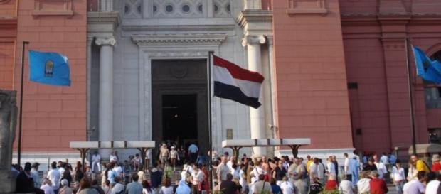 Una protesta contro la crisi economica al Cairo