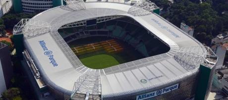 O Allianz Parque é o palco do duelo Palmeiras x Fluminense