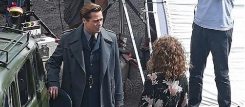 Brad Pitt y Marion Cotillard (Allied)