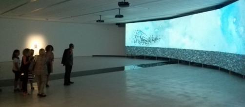 La sala 5 del Maxxi con un'opera di Shahzia Sikander.