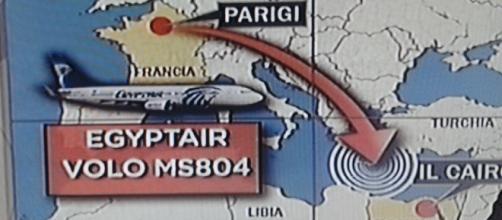 Mappa dell'ultimo volo Egyptair MS840