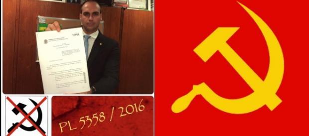 Flávio Bolsonaro pede que uso de símbolo seja proibido