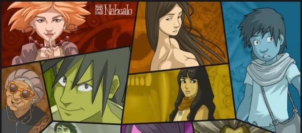 Los personajes principales de Nahualo
