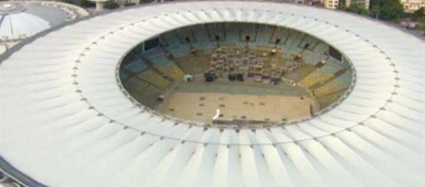 O estádio do Maracanã já está se preparando.