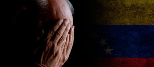 Abuelos Venezolanos sufren la crisis alimentaria.