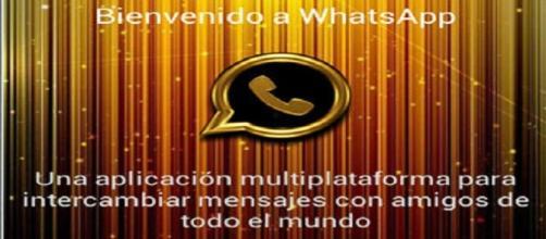 Captura de Pantalla del inicio del timo llamado: WhatsApp Gold