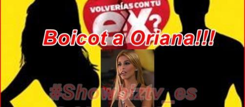 El público quiere boicotear a Oriana Marzoli en su primer evento