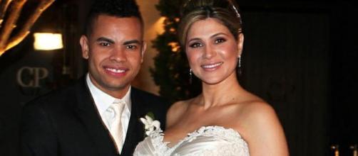 Foto do casamento de Dani Souza e Dentinho