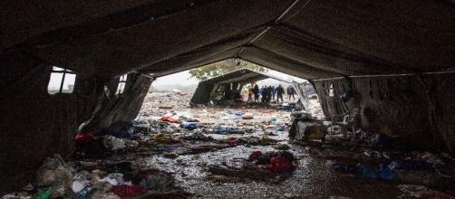 Imagen de campo de refugiados de Grecia. MSF