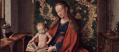 Jan van Eyck : Vierge à l'Enfant lisant - vers 1433