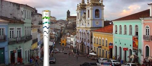 Pelourinho fez parte do revezamento da Tocha Olímpica