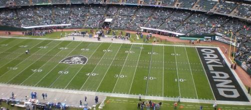 Photo of the O.co Coliseum in Oakland provided by BrokenSphere from Wikimedia Commons.