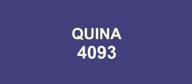 Concurso de quarta-feira (25); Prêmio de R$ 5,5 milhões no resultado da Quina 4093.