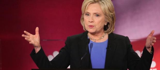 Hillary Clinton en una de sus campañas