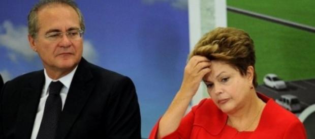 Renan Calheiros e Dilma Rousseff - Imagem/Google