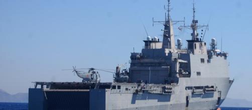 """El buque """"Castilla"""" desde donde se dirigió la operación."""
