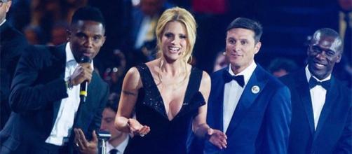 Michele Hunziker conduttrice del Bocelli & Zanetti Night.