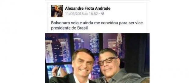 Bolsonaro convida Frota para ser vice-presidente