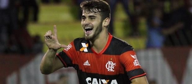 Filipe Vizeu foi o autor do primeiro gol do Flamengo na partida.