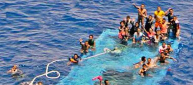 Se trata de refugiados sirios que tratan de llegar a Europa desde Libia. Foto: Twitter