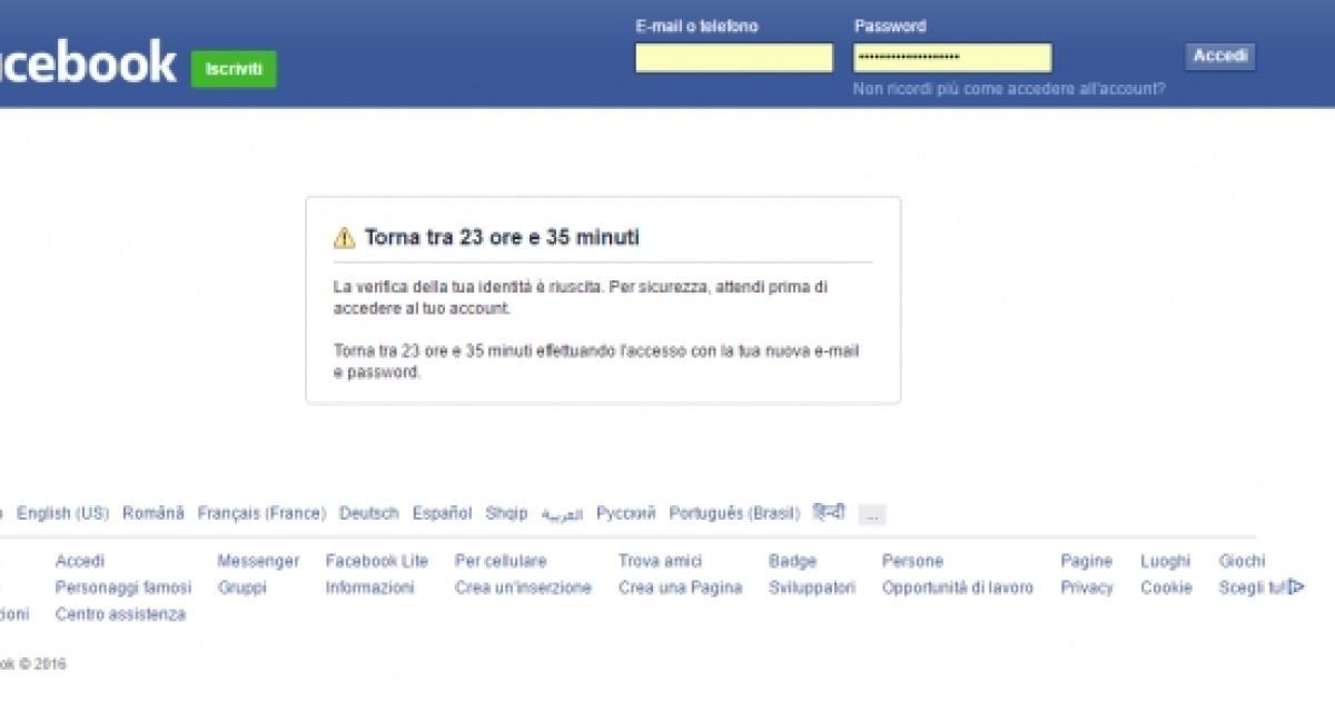 facebook lite accedi
