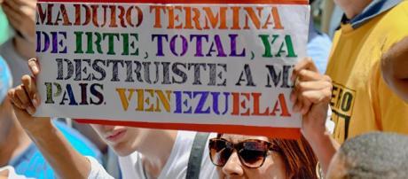 Protestas contra el Presidente Maduro