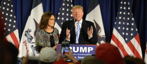 Donald Trump, Sarah Palin, creative commons via Flickr